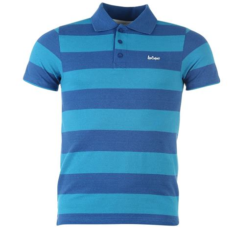 Mens Shirt Polo Blue Stripes B Bross cooper mens c stripe polo 3 button collar sleeve t shirt ebay