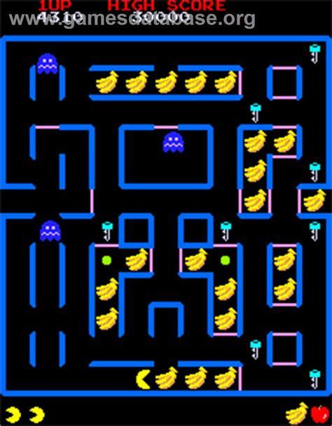 pac man arcade super pac man arcade games database