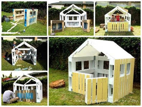 Pallet Play House by 25 Ideas To Recycle Pallets In Pallet Playhouses