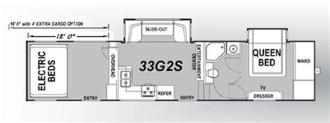 eclipse attitude toy hauler floor plans 2015 eclipse attitude garage 33g2s fifth wheel tucson az