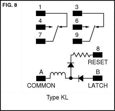 latching relay wiring schematic circuit and schematics