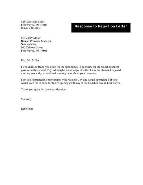 Rejection Letter Of Employment Template 2018 rejection letter fillable printable pdf