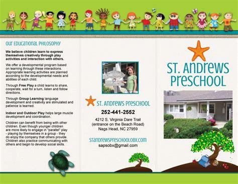 st andrews preschool trifold brochure