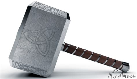 Hammer Of Thor Original Autentik No 1 mjolnir thor s hammer step iges 3d cad model grabcad