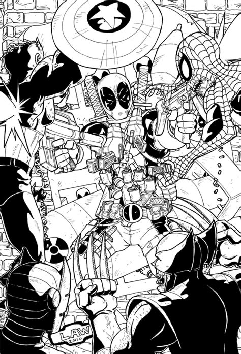 coloring pages of marvel zombies deadpool vs the marvel zombies by marvin000 on deviantart