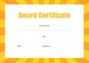Best Certificate Templates by Award Certificate Template 29 In Pdf Word