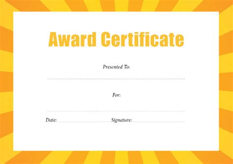 best certificate templates best award certificate pdf templates