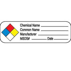 Chemical Label Template by Chemical Hazard Labels Marketlab Inc