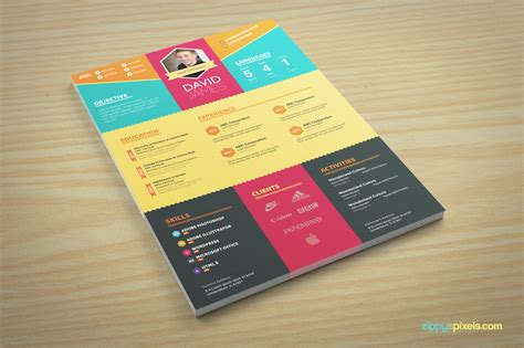 colorful stylish resume cover letter template on behance