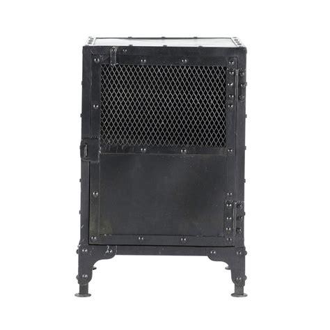 comodini 40 cm comodino nero stile industriale in metallo l 40 cm edison