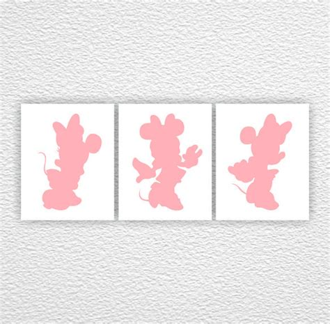 Minnie Mouse Wall Decorations by Disney Wall Minnie Mouse Silhouette Pink Silhouette