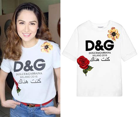 T I A G D did marian rivera really wear a dolce gabbana logo