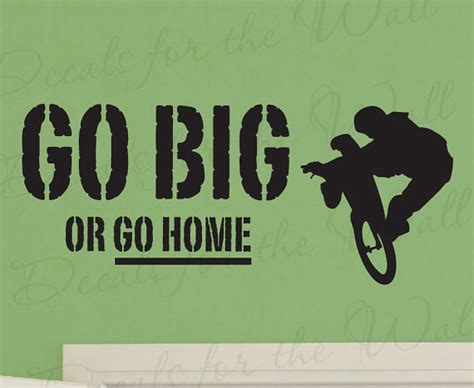 go big or go home boy mountain bike bmx biking sports themed