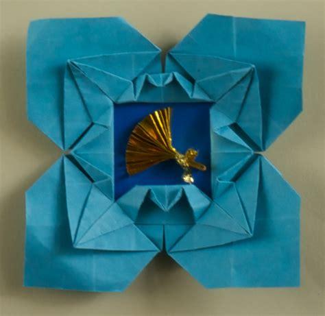 Origami Picture Frame - cranes picture frame diagram origami artis