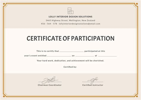 Free Participation Certificate Templates For Word by 58 Printable Certificate Templates Free Psd Ai Vector