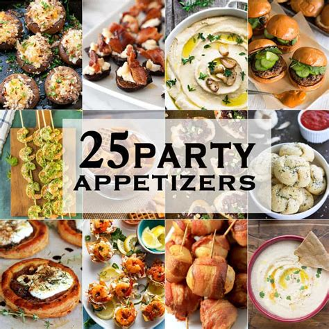 25 party appetizers the cookie rookie