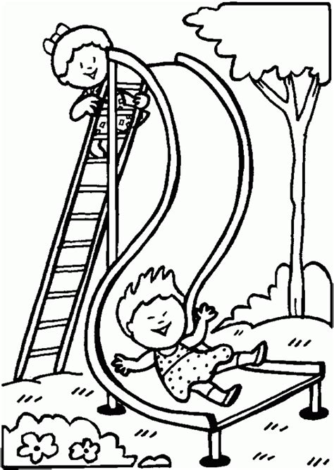 playground printable coloring pages