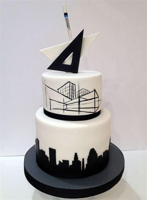Wedding Cake Architecture by Architect S Retirement Cake For La Cakerie Cakes