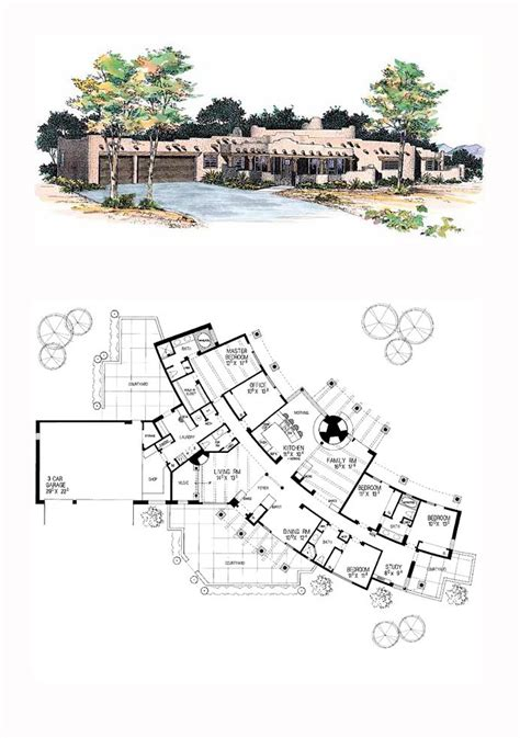 Southwest House Plans With Courtyard by 17 Best Images About Santa Fe House Plans On