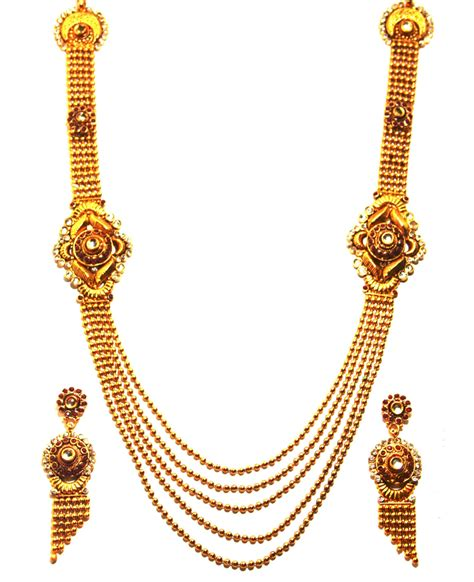 Indian Home Decor Online Shopping by 1gm Gold Platted Long Necklace Rani Haar Set Online