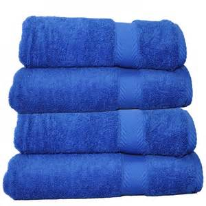 luxury 650 gram cotton bath towel cobalt blue set of 2