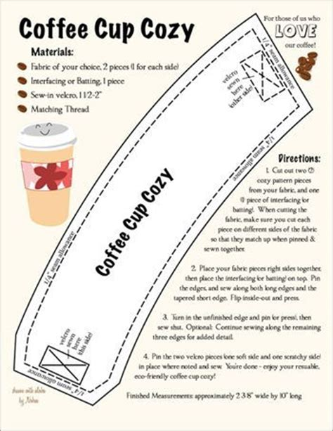 coffee sleeve template 17 best images about cup sleeves on coffee