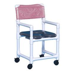 soft seat wheeled rolling shower chair made from no rust