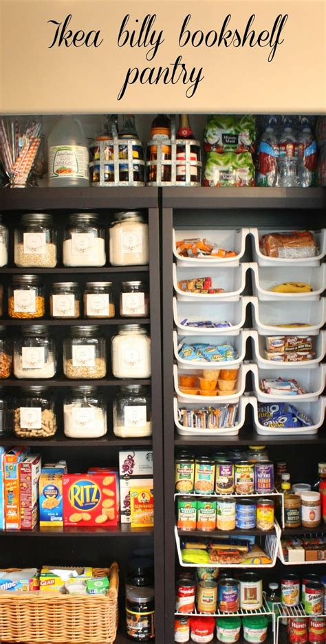 Kitchen Bookcase Ideas - my sweet pantry made with ikea bookshelves