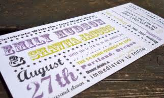 concert ticket invitations template concert ticket wedding invitation sle set by