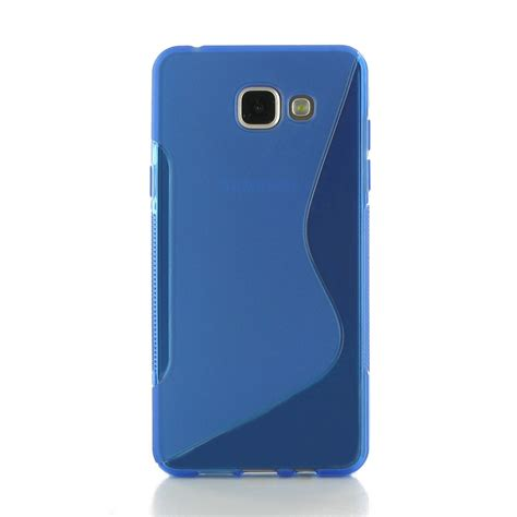 Softcase Jacket For Samsung Galaxy A5 samsung galaxy a5 2016 soft blue s shape pattern pdair