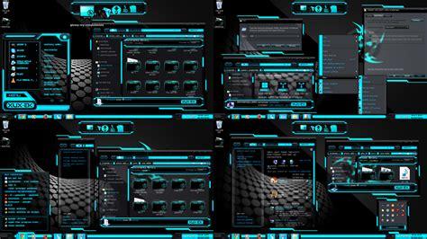 themes for windows 7 blue theme blue black xux ek by customizewin7 on deviantart