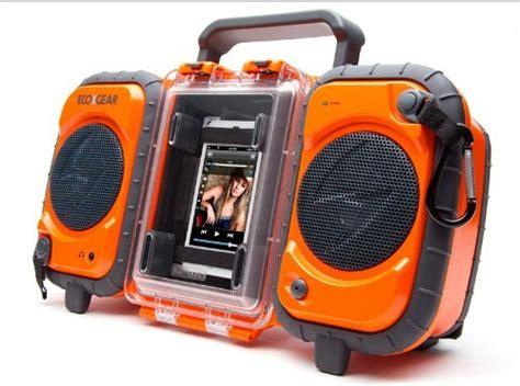 ecoxgear rugged and waterproof stereo boombox gdi aq2si60