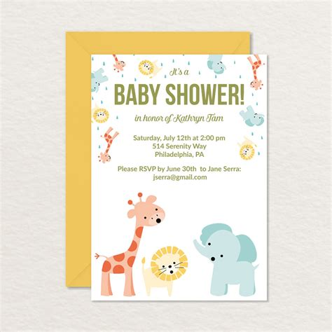 printable baby shower baby shower invitations printable cards f wall decal