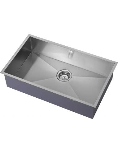 square kitchen sinks zenuno 700u large single bowl kitchen sink 740 x 440mm