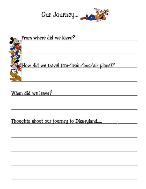 trip diary template disney travel journal disney vacations and the o jays