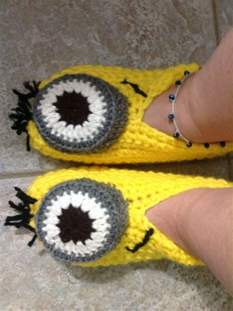 minion crochet slippers minion slippers crochet slippers and minions