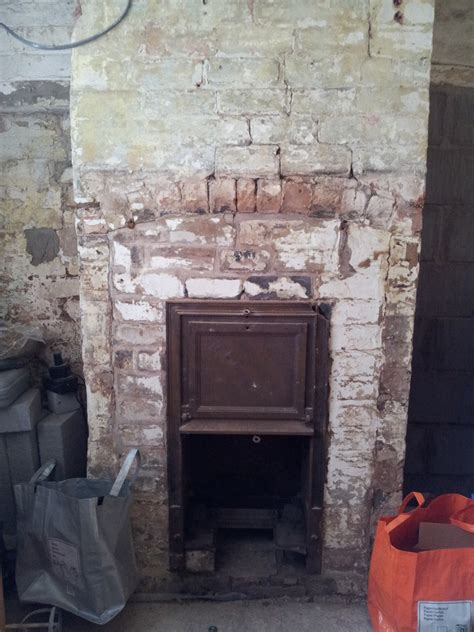 lintel installation fireplace extending bricklaying