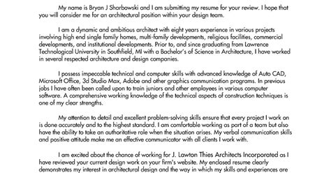 Cover Letter Architecture Part 2 Architect Interrupted Cover Letter Exle