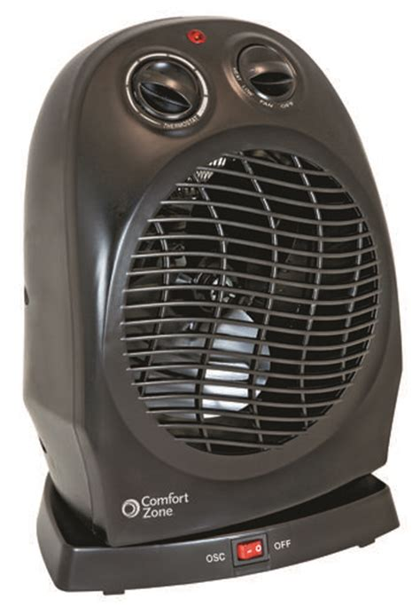 comfort zone heater fan comfort zone oscillating heater fan at menards 174