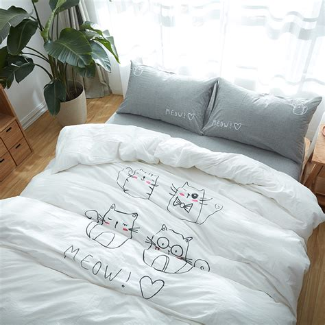 cute pattern bedding 100 cotton soft bedding sets bedroom cute cat pattern no