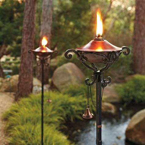 Backyard Torches by Tiki Torch Lights And Outdoor Ls Garden Gear
