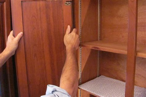 remove kitchen cabinet doors how to