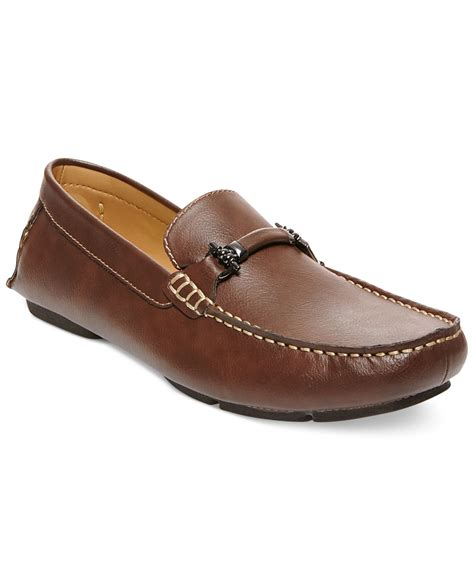 steve madden brown loafers steve madden madden trulow loafers in brown for lyst