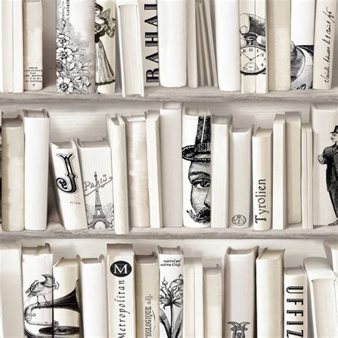 muriva encyclopedia bookcase wallpaper in 572217