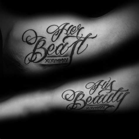 his her tattoo designs top 100 best matching tattoos connected design ideas