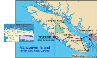 tofino canada map where is remote passages whale and sea kayaking
