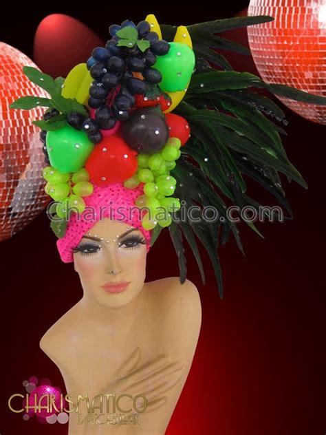 fruit headdress charismatico s bejeweled fruit headdress with pink
