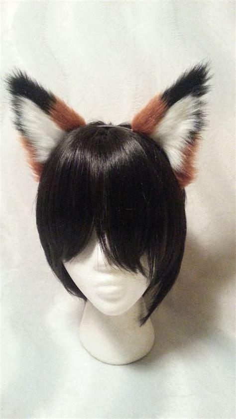 ears headband fox ears black tipped v2 headband