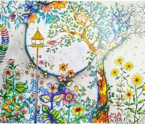secret garden colouring book coloured in 1000 images about secret garden on secret