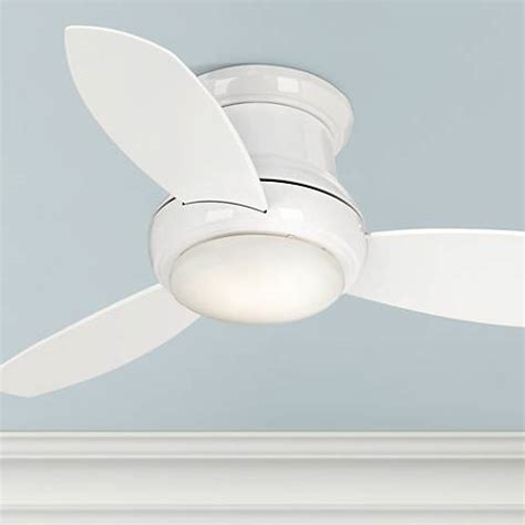 concept ii ceiling fan 44 quot concept ii white flushmount led ceiling fan 19a38
